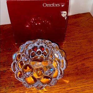 Orrefors crystal AnneNilsson design votive holder